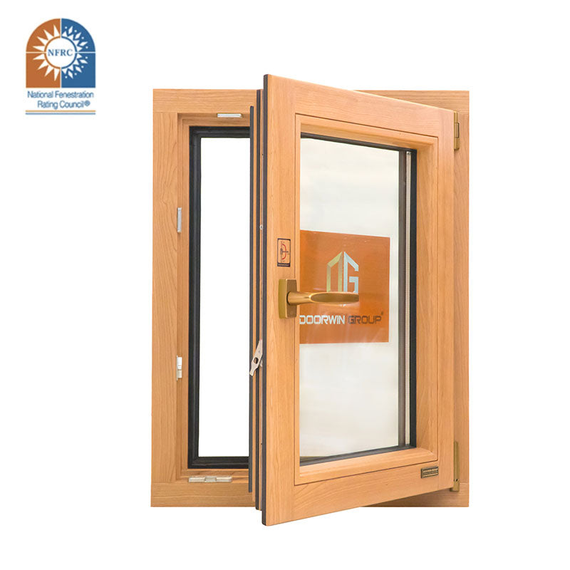 Made in China Latest Design NFRC Inside Open Aluminum Clad Wood 3 Glass Solid Wooden Tilt And Turn Casement Windows Imagination Series