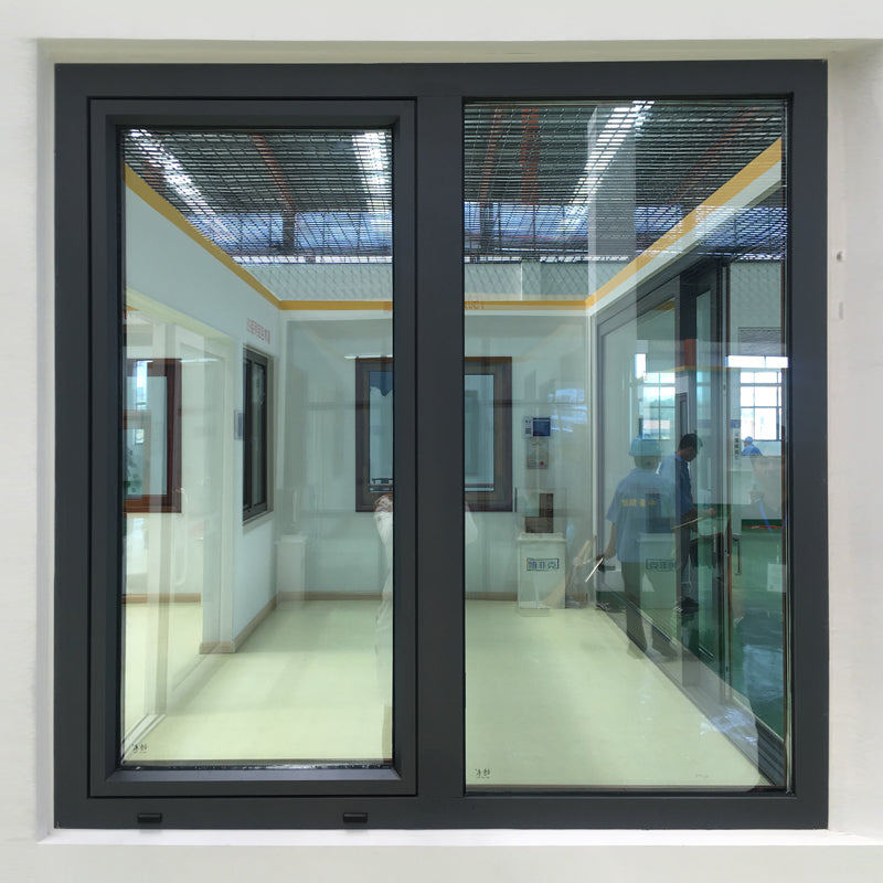 tilt turn window-thermal break aluminum window with wenge wood cladding from inside