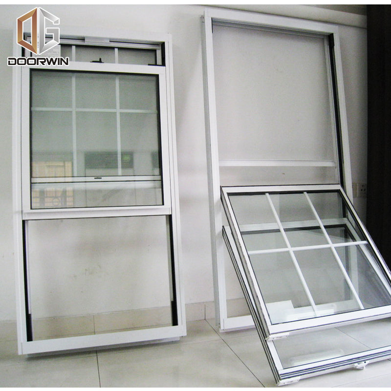 single & double hung window-01 white thermal break aluminum window with grilles