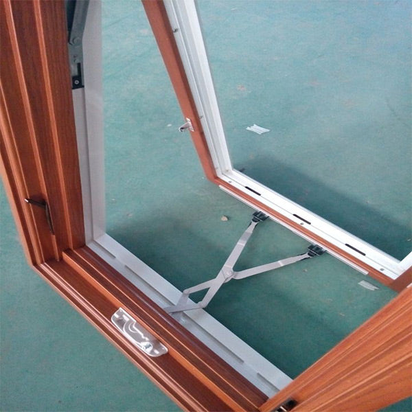 American Casement and Awning Window With Foldable crank handle,  Timber Window With Exterior Aluminum Cladding