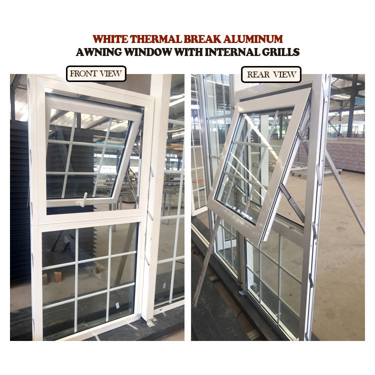 White Thermal Break Aluminum Awning Windows