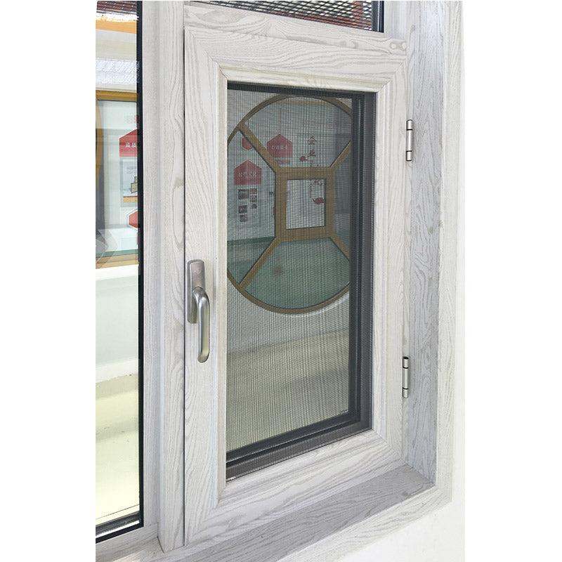 tilt turn window-44 outswing window with wood grain color finishing