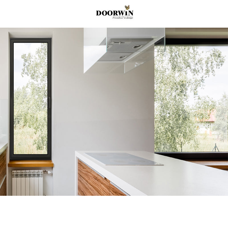 Fashion house window aluminum modern windows double glazing tilt turn windows- MINIMALISM SERIES
