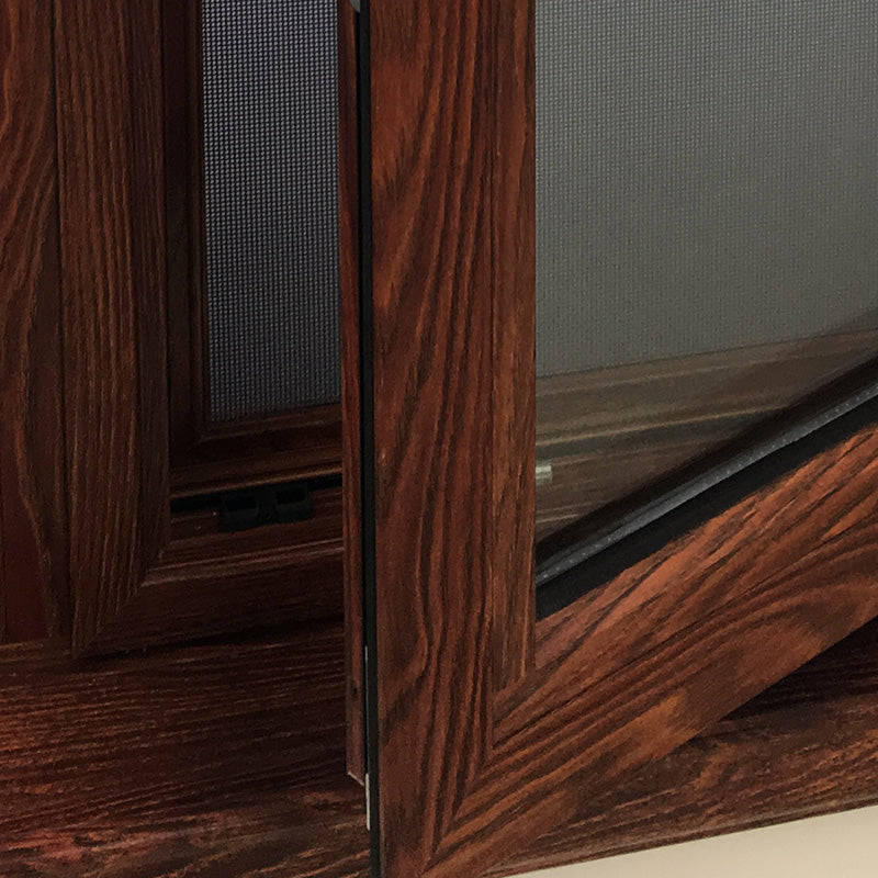 Tilt and turn with wood grain finishing