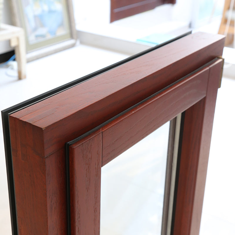 thermal break aluminum window with interior wenge wood clading