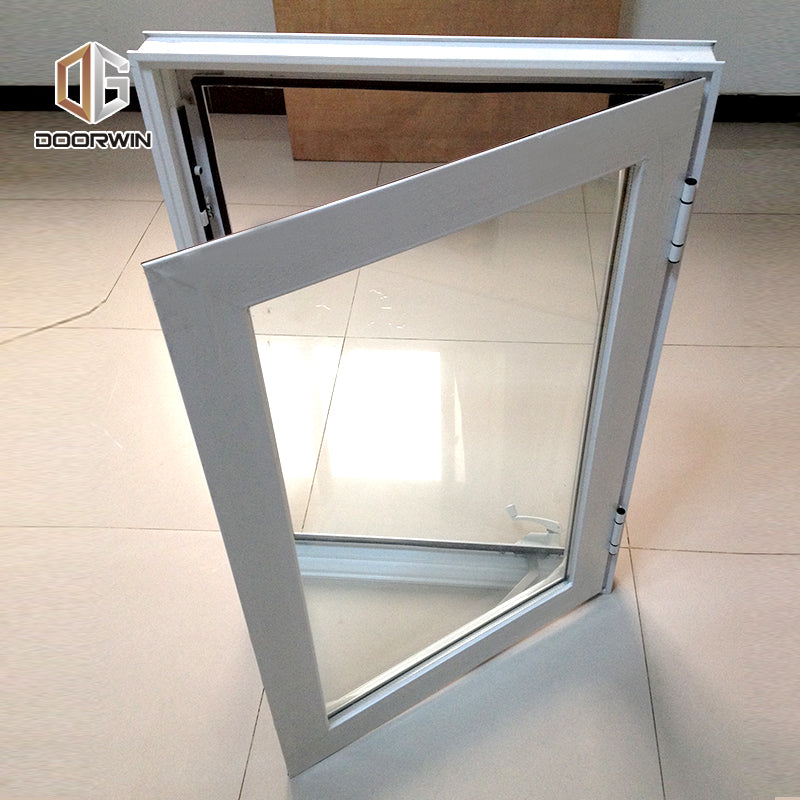 white aluminum crank open window