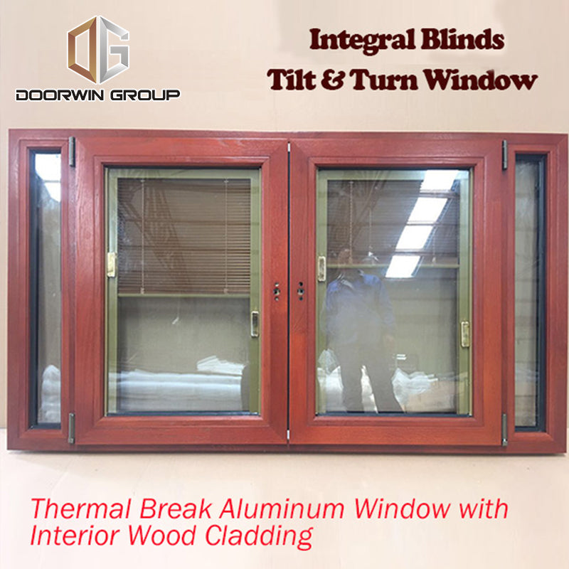 CE Certified Tilt and Turn Window With Built-In Blinds