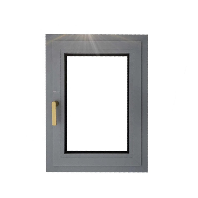 Aluminium casement windows and doors with in swing panes as certificates window sub frame top head