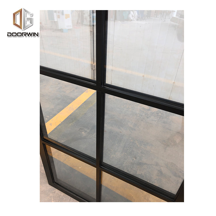 Aluminium frame windows with tempered glazing extrusion profile double glazed window