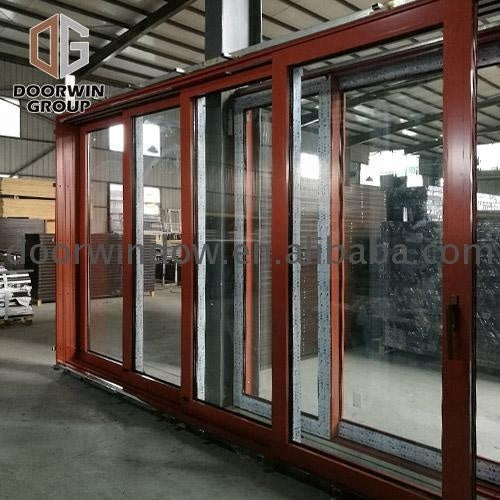 Aluminium framed sliding glass door diamond security casement by Doorwin on Alibaba