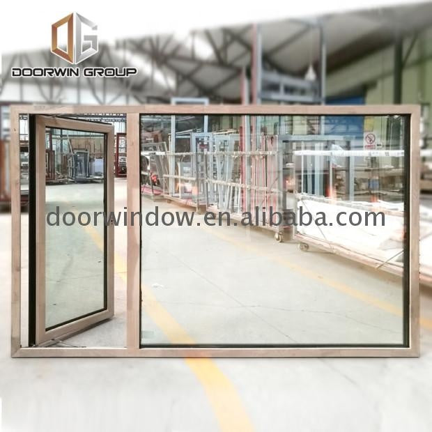 Aluminium monoblock double glass casement doors and windows