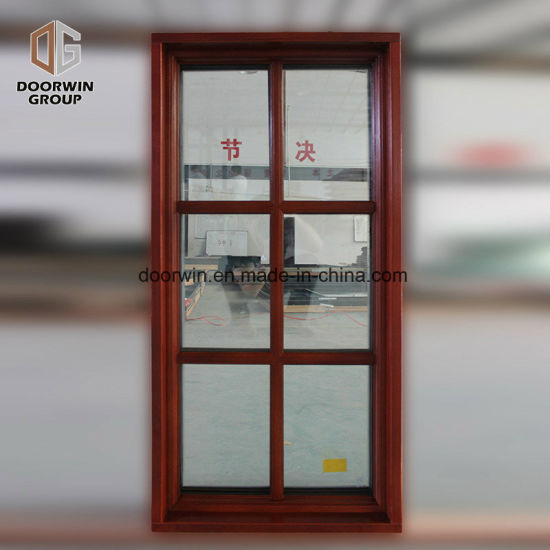 Aluminum Wood Fixed Window with Colonial Bars - China Iron Window Grill Design, New Iron Grill Window Door Designs