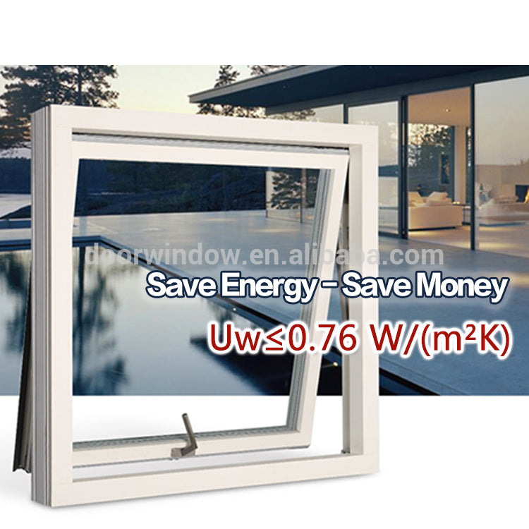 Aluminum awning top hung windows with double safety glass aluminium swing window single