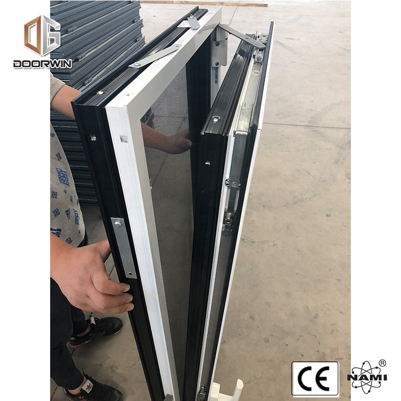 Aluminum double opening sides casement window with mosquito screen