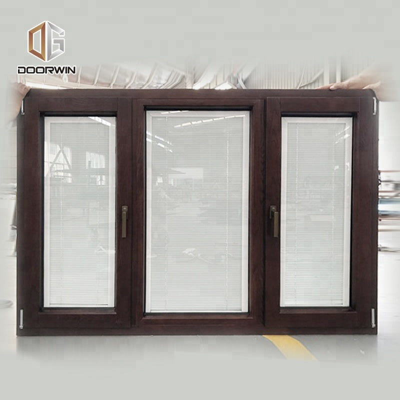 Aluminum louver frame windows glass shutter aluminium with blinds by Doorwin on Alibaba