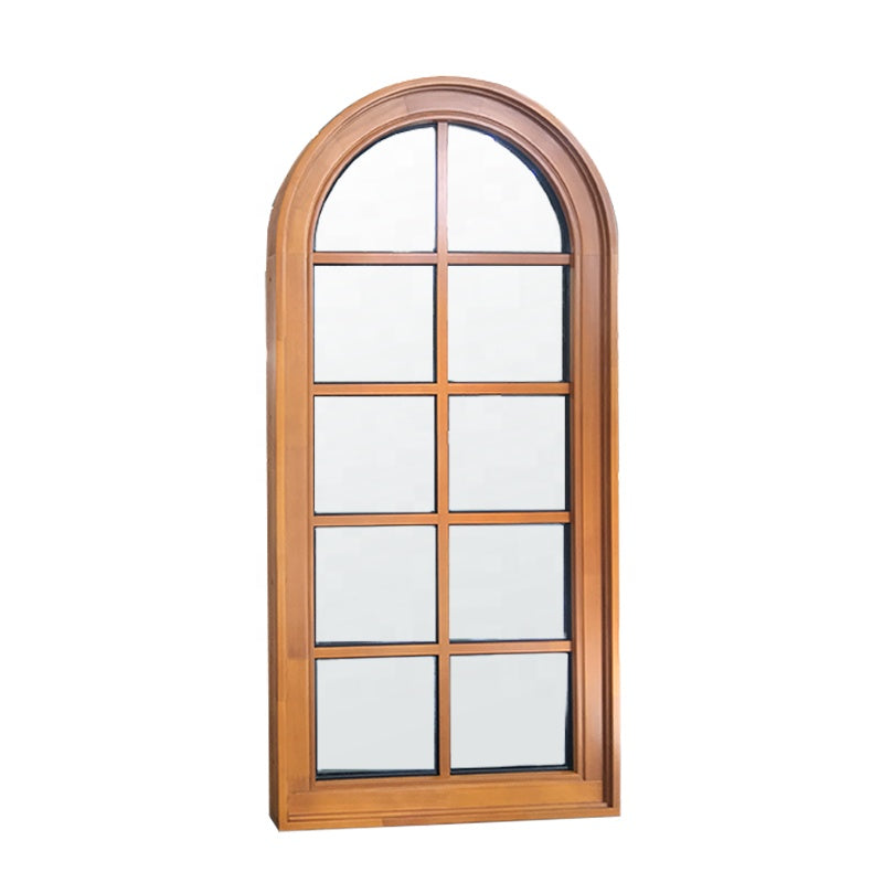 America CSA/AAMA/NAMI Certified Solid Wood Window With Arched Top with Grille Design by Doorwin