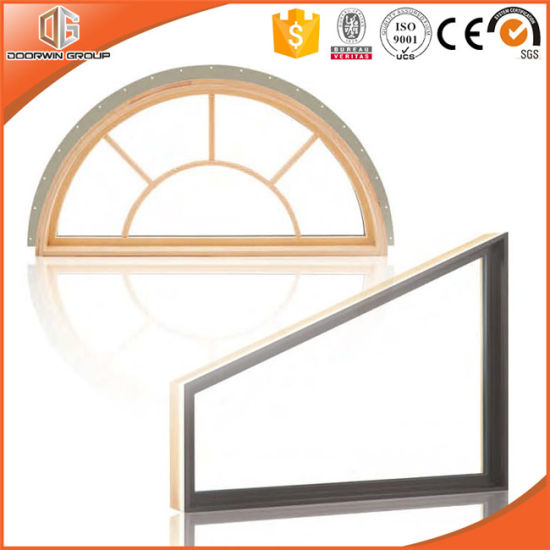 America Style Solid Wood Specialty Window, Circular/Round or Any Customized Shape Wood Specialty Glass Window - China Wood Window, Window