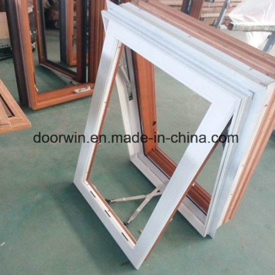 American Awning Window with Foldable Crank Handle, Timber Window with Exterior Aluminum Cladding - China Waterproof Window Screen, Window Designs Simple