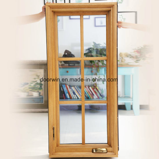 American Casement Window Foldable Crank Handle, Aluminum Clad Solid Oak Wood Window - China Aluminum Round Windows, Window Grill Design for Aluminum