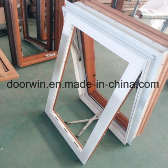 American Foldable Crank Handle Timber Window with Exterior Aluminum Cladding - China Awning Windows with Safety Glass