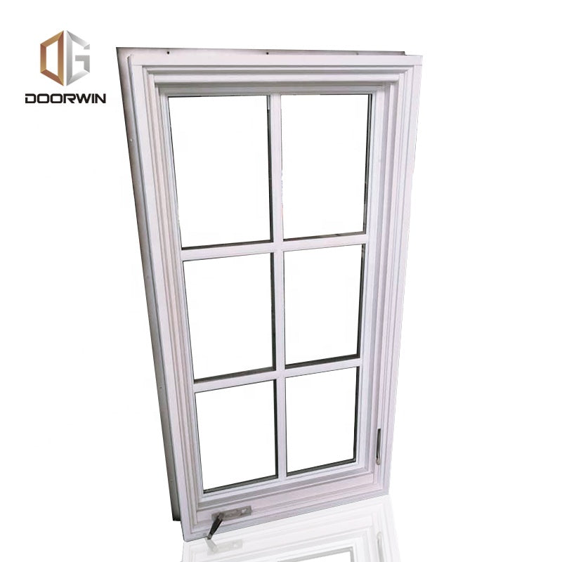 American NAMI certified wood aluminum composite crank casement windows by Doorwin on Alibaba