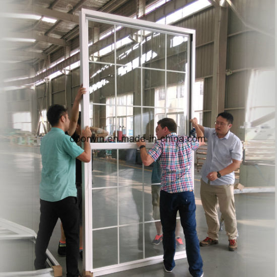 American Single Hung Thermal Break Aluminum Double Hung Window with Sliding Sash - China Double Hung Window, Slide up Windows