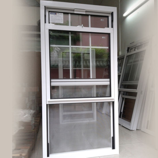 American Single Hung Thermal Break Aluminum Window, Double Hung Window, Sliding Sash Window - China Double Hung Window, Slide up Windows