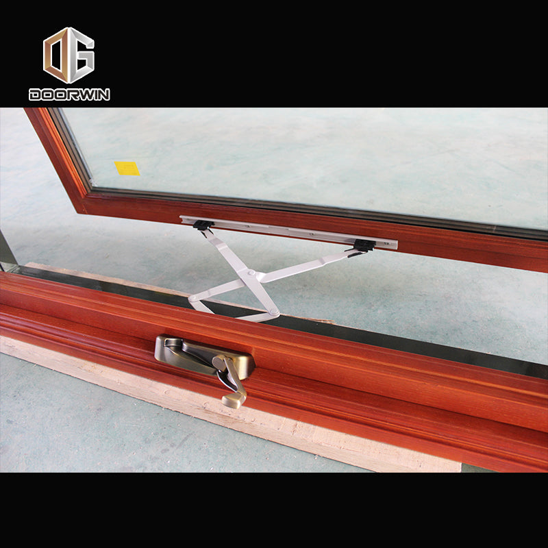 Oak Wood Aluminum Casement Window American Crank Window for Missouri Cient