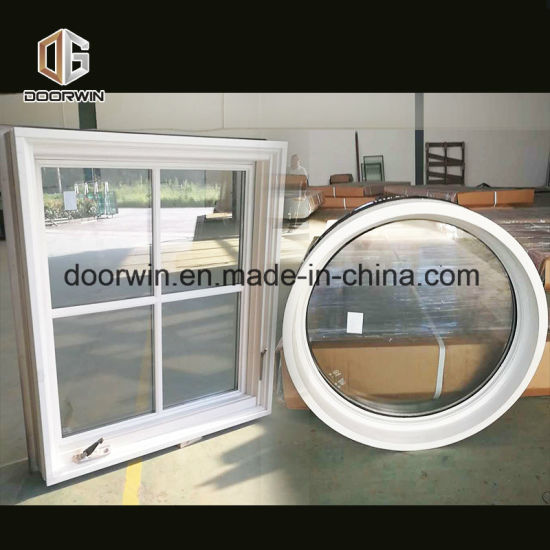 American White Crank Casement Window with Grill Design - China Latest Window Designs, Wood Windows
