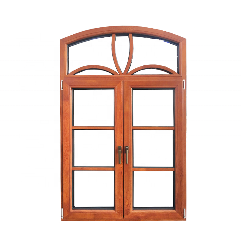 American arched top double layer tempered glass windows with grille design by Doorwin