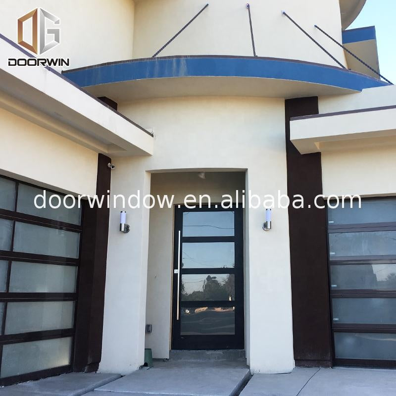 Antique solid wood exterior doors aluminum composite door aluminium glass double entry by Doorwin on Alibaba