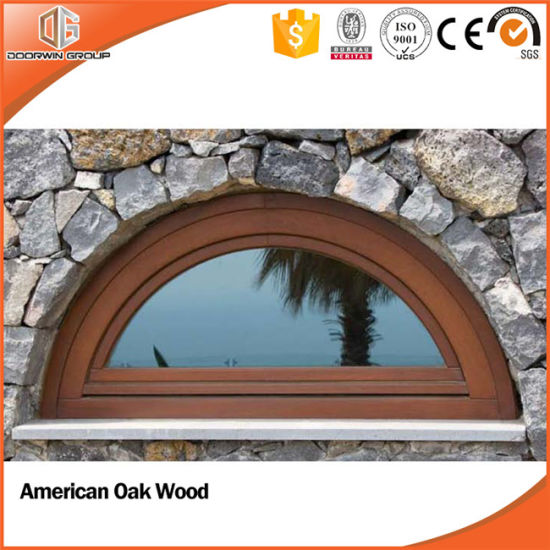 Arch Design Grille Double Glazed Aluminum Clad Wood Window, Solid Wood Clad Thermal Break Aluminum Specialty Window - China Wood Window, Window