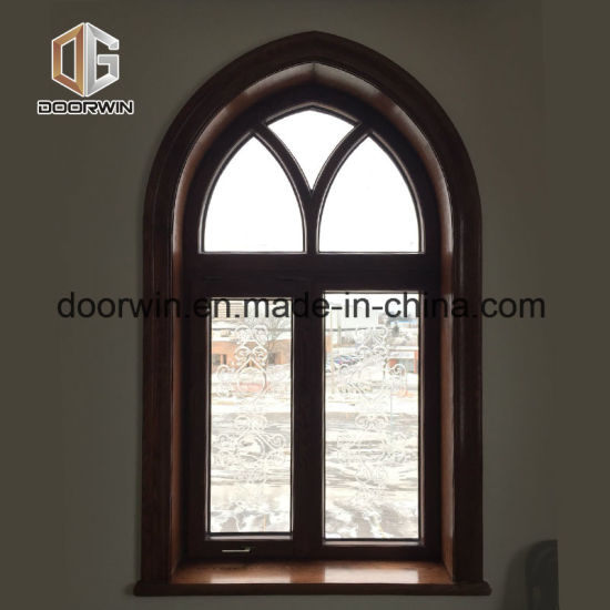 Arched Fixed Window with Carved Glass - China Wood Arched Window, Arched Windows