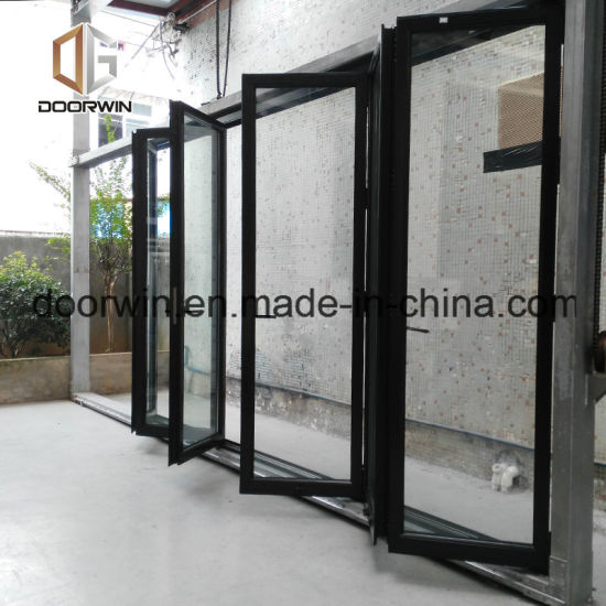 As2047 Australia Standard Aluminum Folding Door with Built-in Shutters - China Bifold Door, Bifolding Door