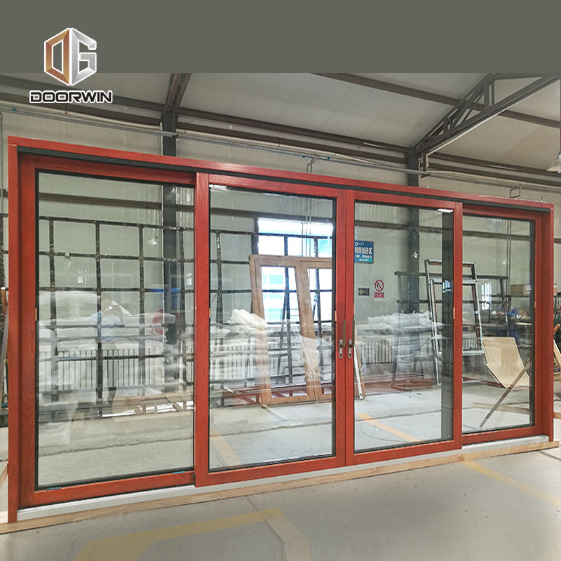 Atlanta Cheap Price wide wooden front door with wooden door design commercial aluminum sliding door