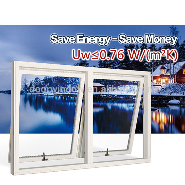 Awning top hung windows with double glazing glass american standard aluminum