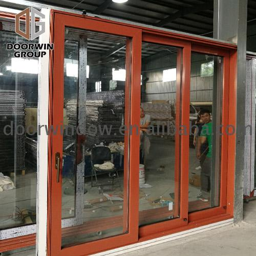 Bathroom glass sliding doors balcony door automatic sensor by Doorwin on Alibaba