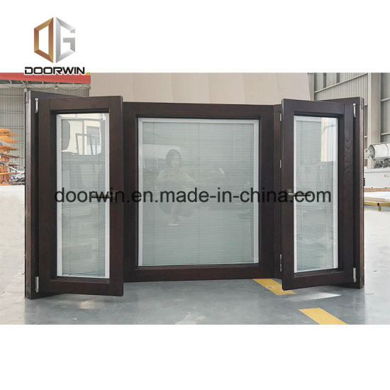 Bay Bow Tilt Turn Window with Built-in Shutter - China Timber Wood, Timber Cladding