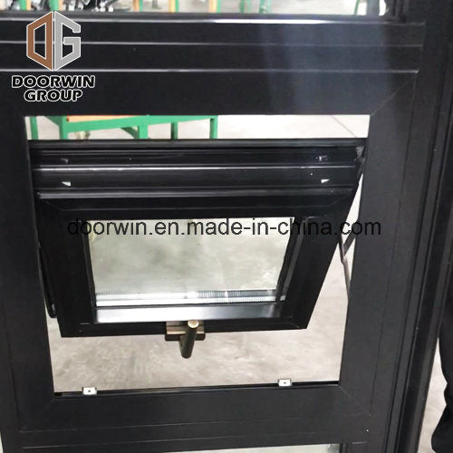 Black Color Thermal Break Aluminum Awning Window with Double Glass - China European Windows, Exterior Paneling