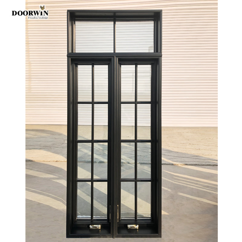 DOORWIN Cheap Import Casement Windows Made in China Double Glazing Swing Crank Type Window with Fixed Panel