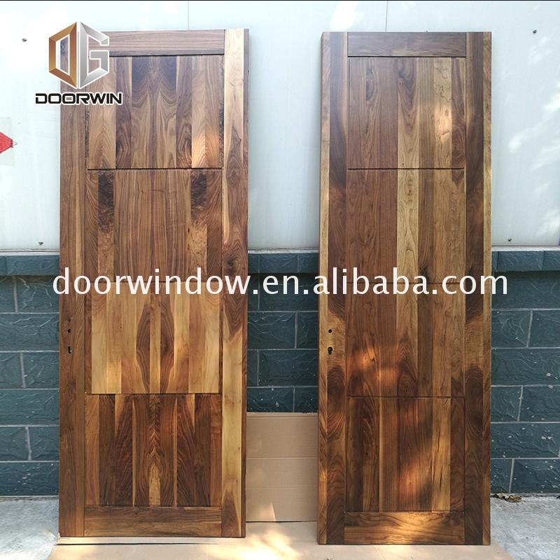 Cheap Factory Price interior wood door thickness barn doors high quality wooden