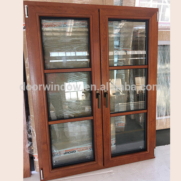 China Big Factory Good Price dual pane low e windows double prairie window grids cost