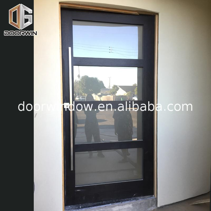 China Factory Promotion double glazed front entrance doors glass on rail system