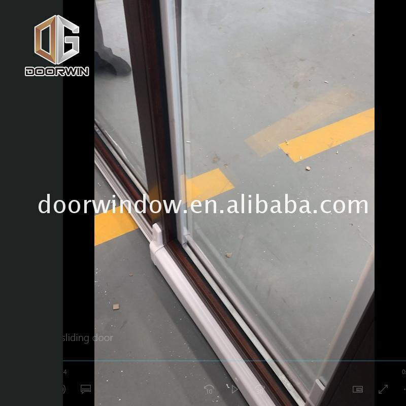 China Factory Promotion wood sliding patio doors exterior panel