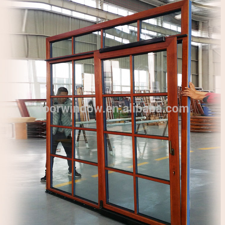 China Good energy efficient sliding patio doors dual double wide