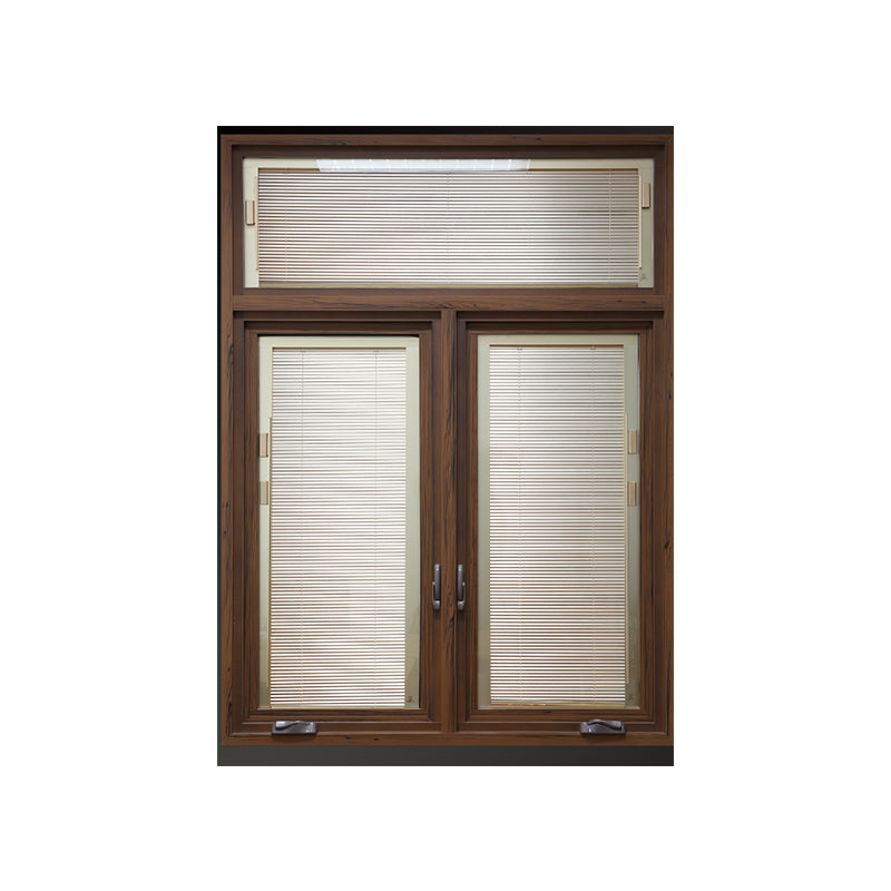 China Manufactory aluminum clad wood windows window casement hand crank