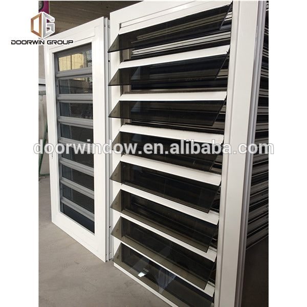 China Manufactory powder coated aluminium windows plantation shutters for casement pics of