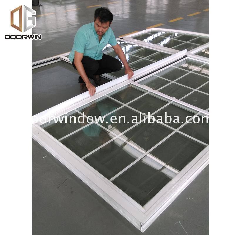 China Manufactory types of double hung windows two side by twin