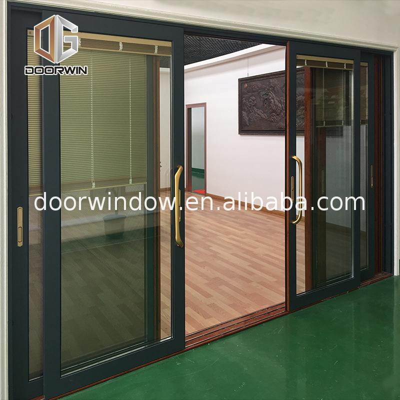 China Manufactory wooden sliding door handles wood glass patio doors