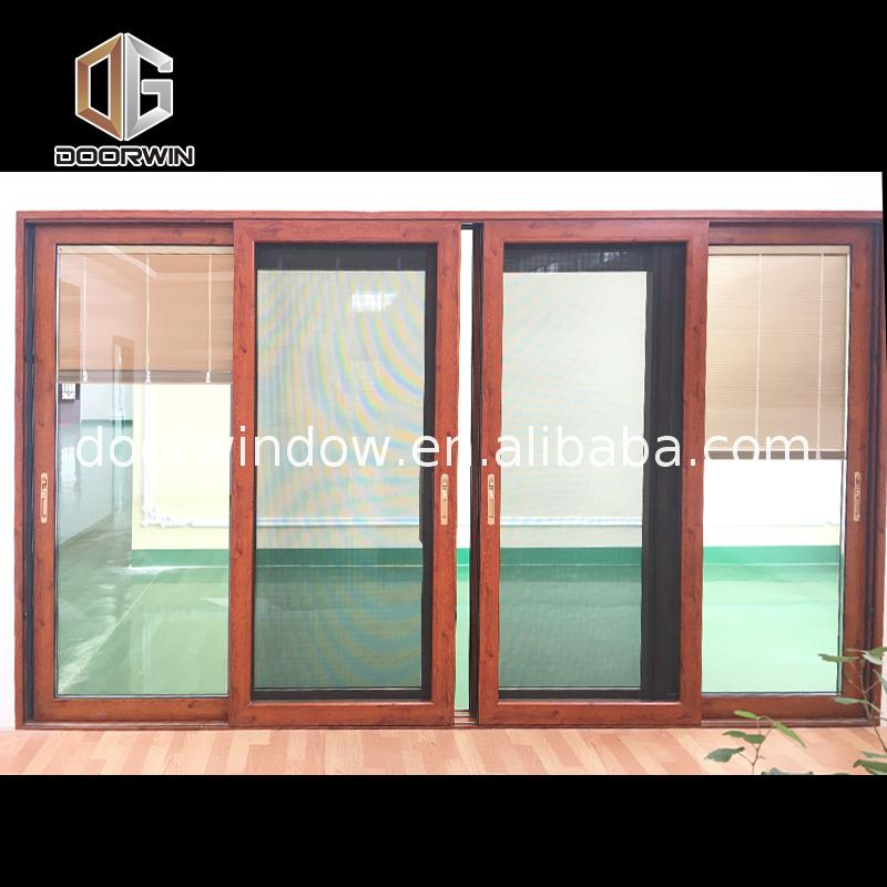 China factory supplied top quality wood sliding doors closet solid 4 panel internal patio door netting